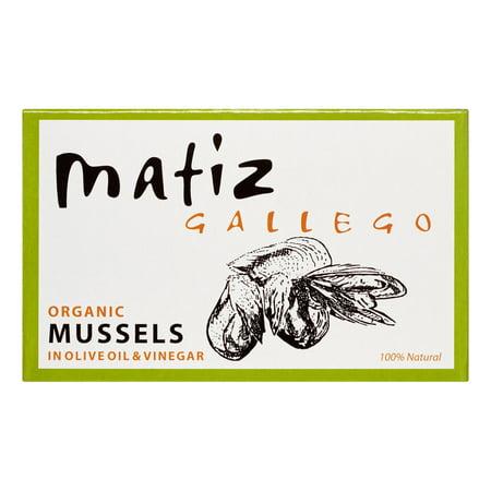 Shop Mussels (Matiz Gallego Organic Mussels in Olive Oil & Vinegar, 3.9 oz Can )