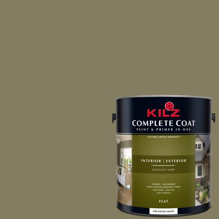- KILZ COMPLETE COAT Interior/Exterior Paint & Primer in One #LF100-01 Olive Wood
