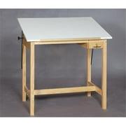 SMI U2436-30A Unfinished Oak Wood Drafting Table, 24 X 36 in.