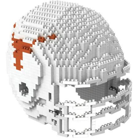 Texas Longhorns NCAA BRXZL 1378 Piece 3-D Construction Toy Football Helmet