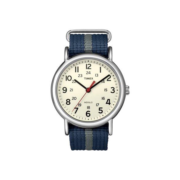 Timex Weekender Slip-Thru Watch - Navy/Grey