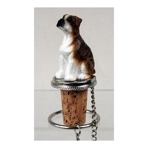 Boxer Brindle Uncropped Wine Bottle Stopper - DTB102C
