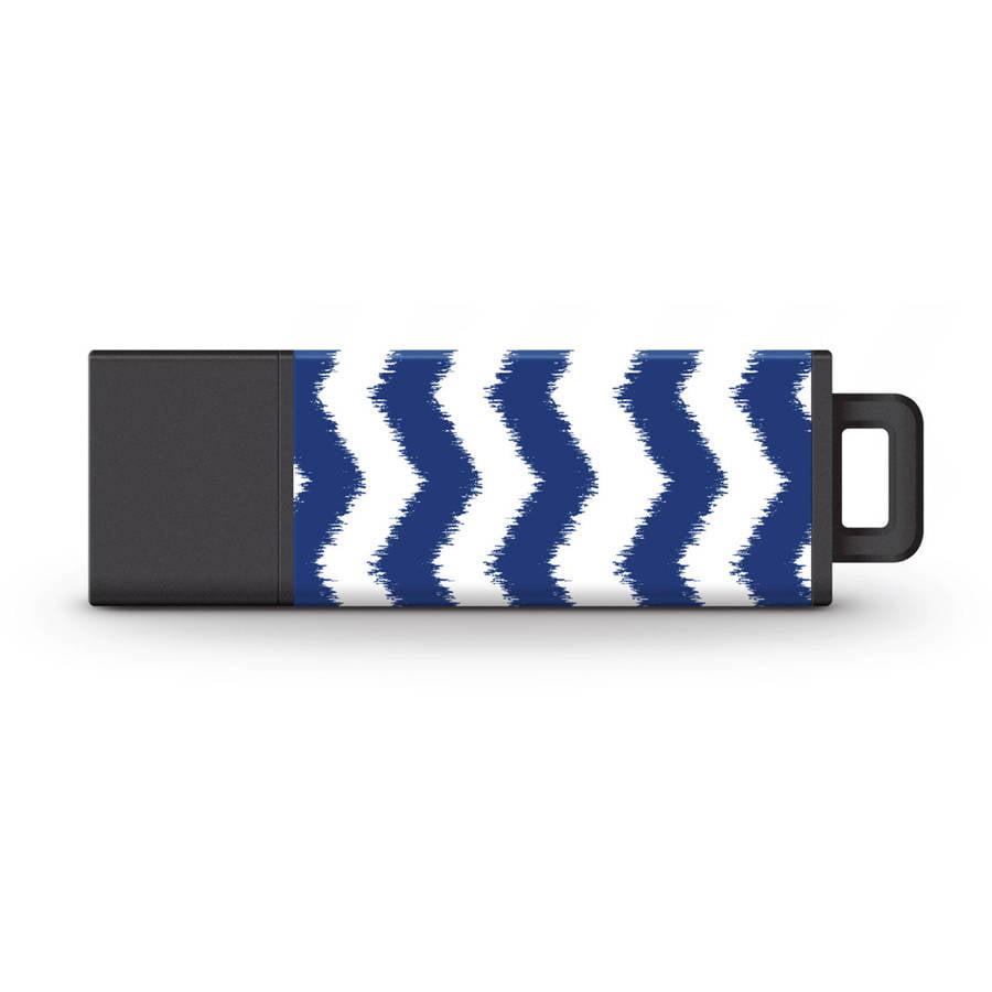 Macbeth 32GB USB 3.0 Pro2 USB Flash Drive, Ikat Chevron Navy