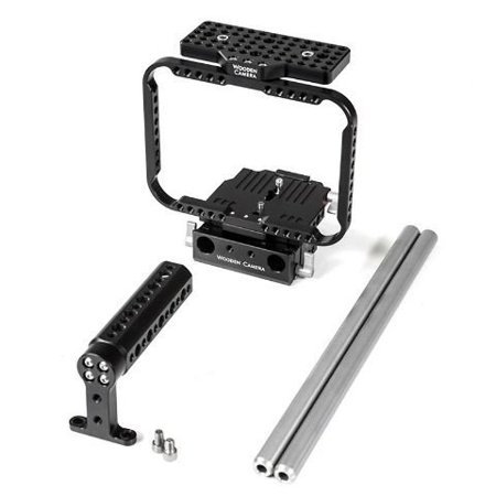 Wooden Camera Quick Kit for Blackmagic Cinema Camera EF, MFT and 4K Cameras, Includes Quick Cage, Top Handle and 15mm