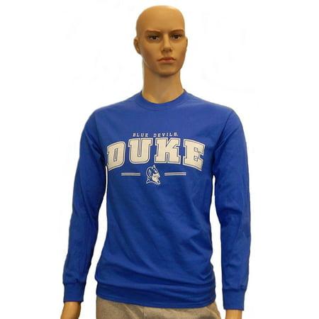- Duke Blue Devils Long Sleeve T-Shirt 100% Cotton