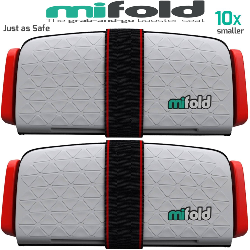 Mifold 2-Pack MF01-US COM Grab-and-Go Car Booster Seat (Pearl Grey) by Mifold