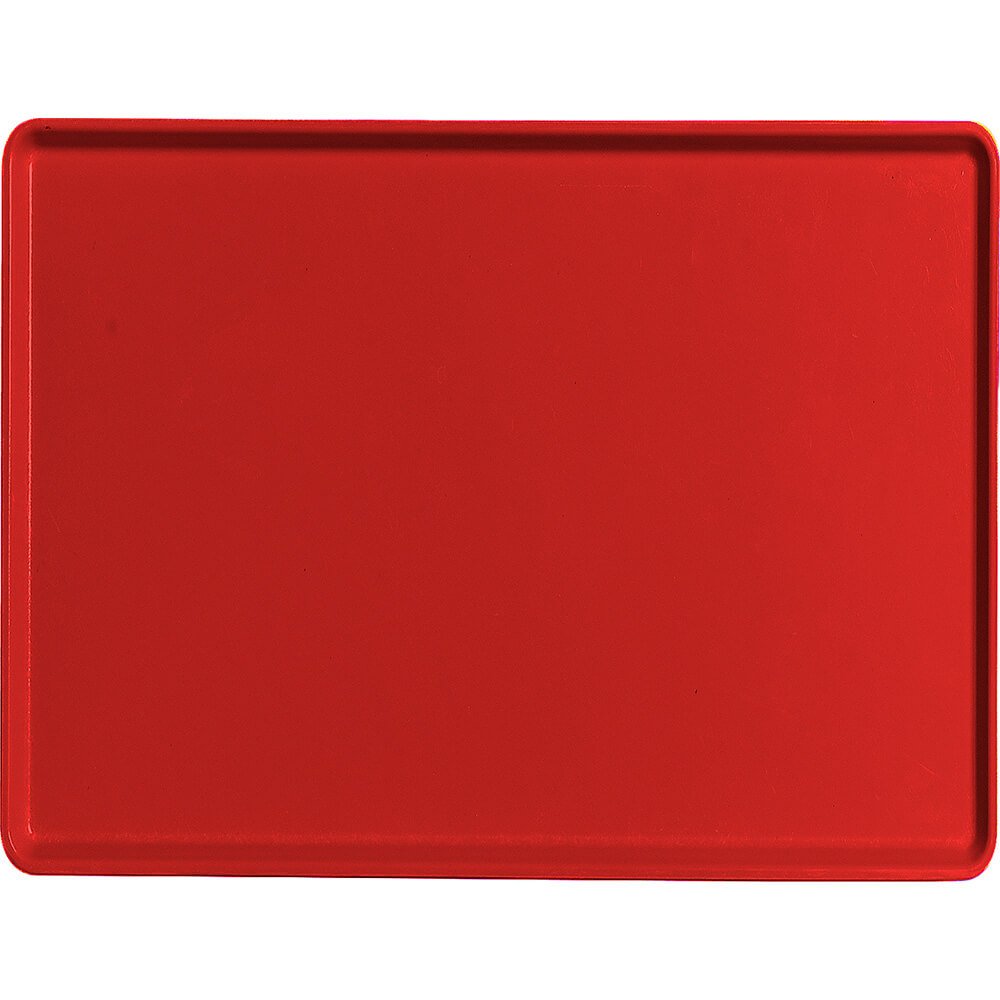 """Cambro 15"""" x 20"""" Healthcare Food Trays, Low Profile, 12PK, Cambro Red, 1520D-521"""