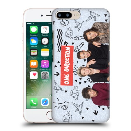 OFFICIAL ONE DIRECTION GROUP PHOTO DOODLE ICON HARD BACK CASE FOR APPLE IPHONE