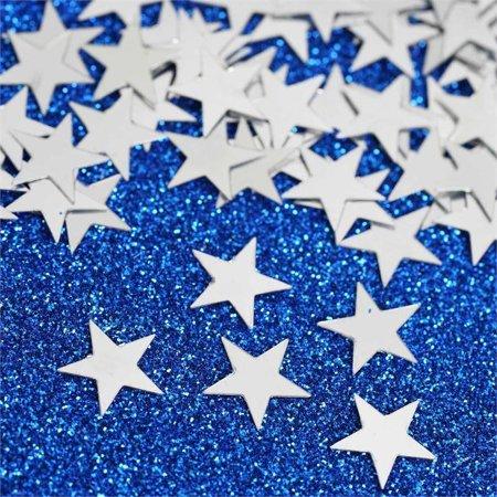 Efavormart Twinkling Metallic Foil Wedding-Party Star Confetti Sprinkles-300 PCS-Silver (Twinkle Star)