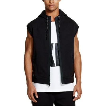 DKNY Mens Athleisure Hoodie Sweatshirt, Black, X-Large