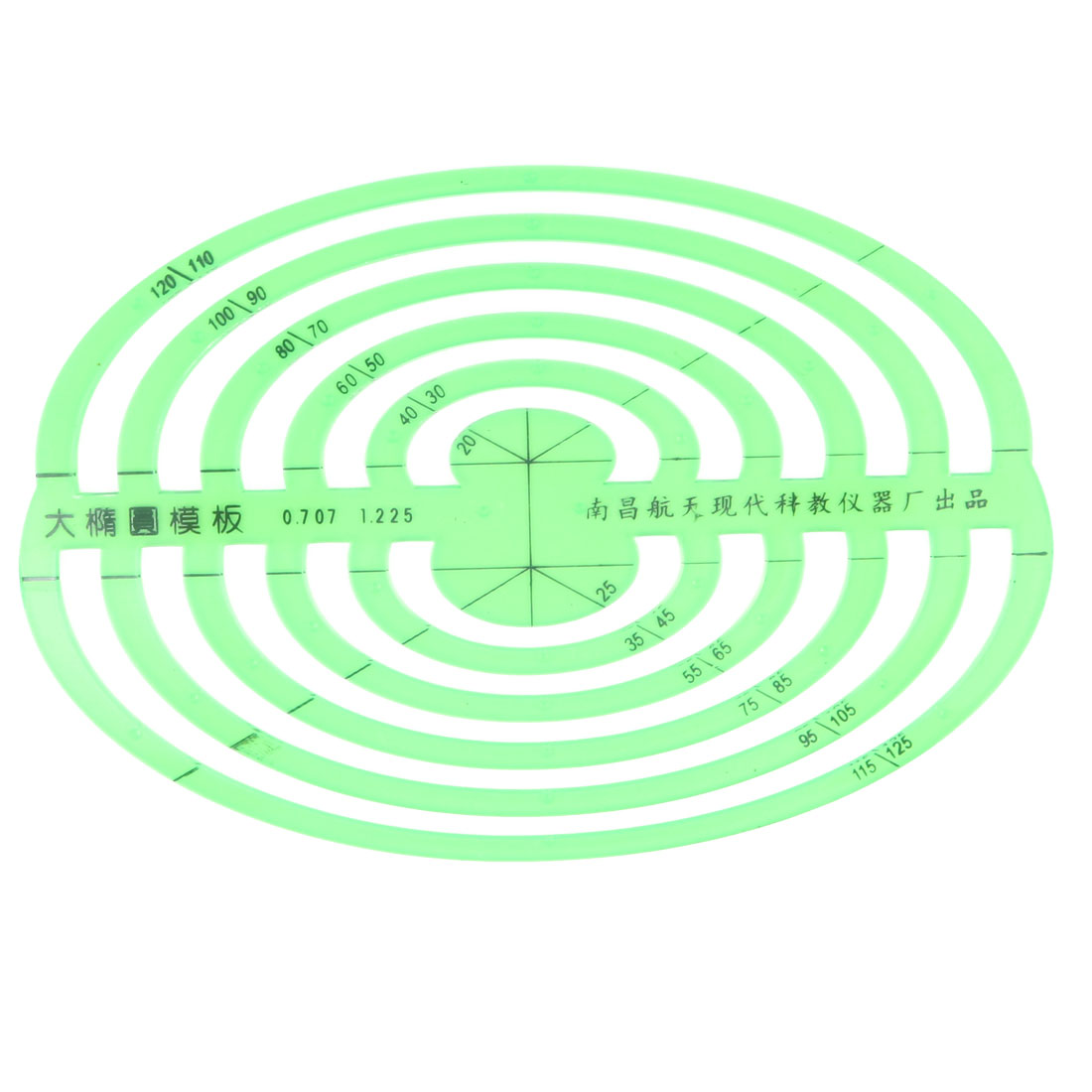 School Office Students Oval Circle Measuring Drawing Template Ruler Stationery by
