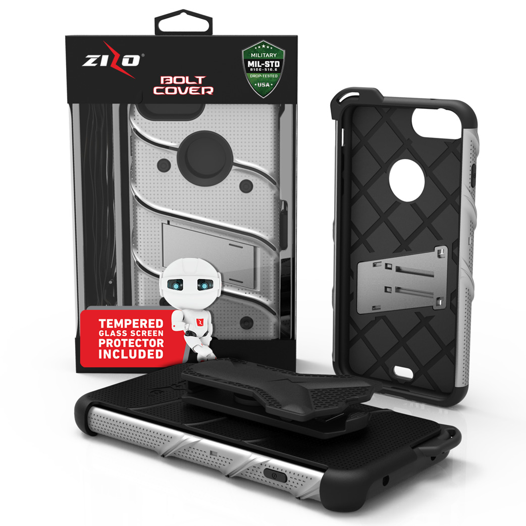 Zizo Bolt Series Case with Screen Protector, Holster, and