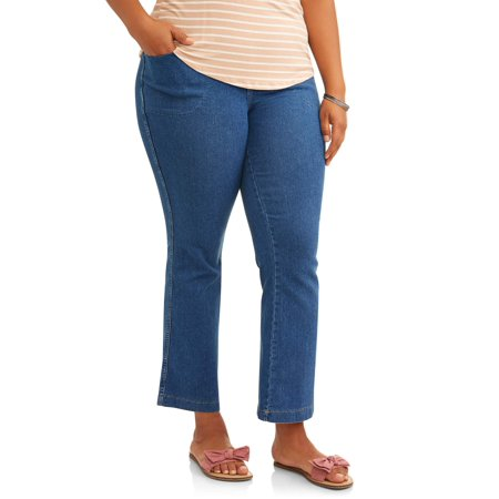 Just My Size Women's Plus Size 4 Pocket Stretch Bootcut Jeans,Regular and Petite Lengths
