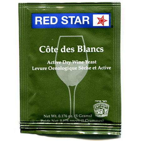 Red Star Cotes des Blanc Wine Yeast - 3 Pack (The Best Tasting Red Wine)