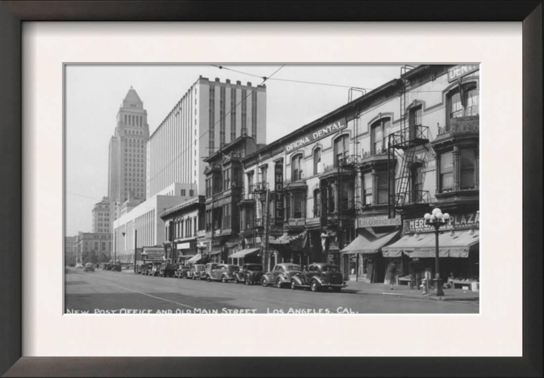 Los Angeles, CA Post Office And Old Main Street Photograph ... Framed Art