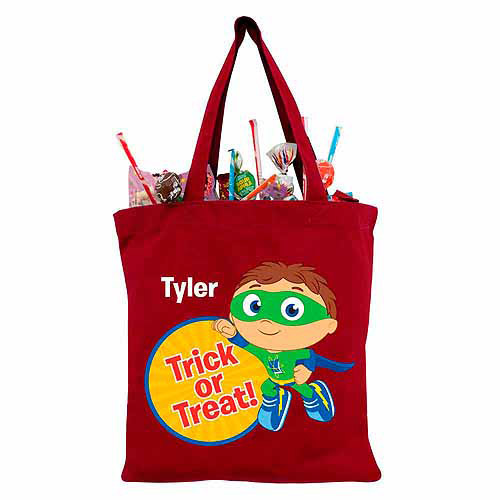 Personalized Super Why! to the Rescue Red Trick-or-Treat Bag