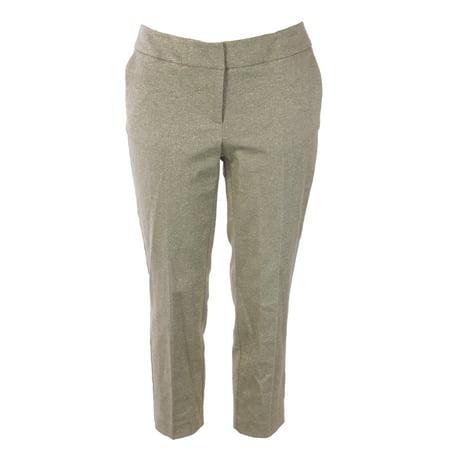BODEN Women's Bistro Crop Trousers Gold Metallic