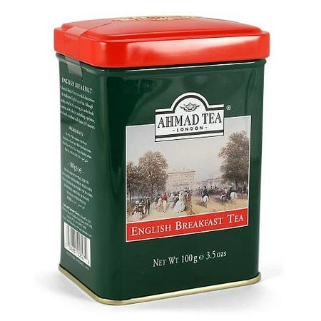 Ahmad Tea Caddy Gift Tin, English Scene, English Breakfast, 100 (English Gift)