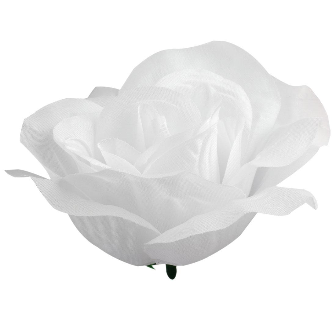 Handcraft Artificial Fabric Flower Rose Petal Head Decor 2
