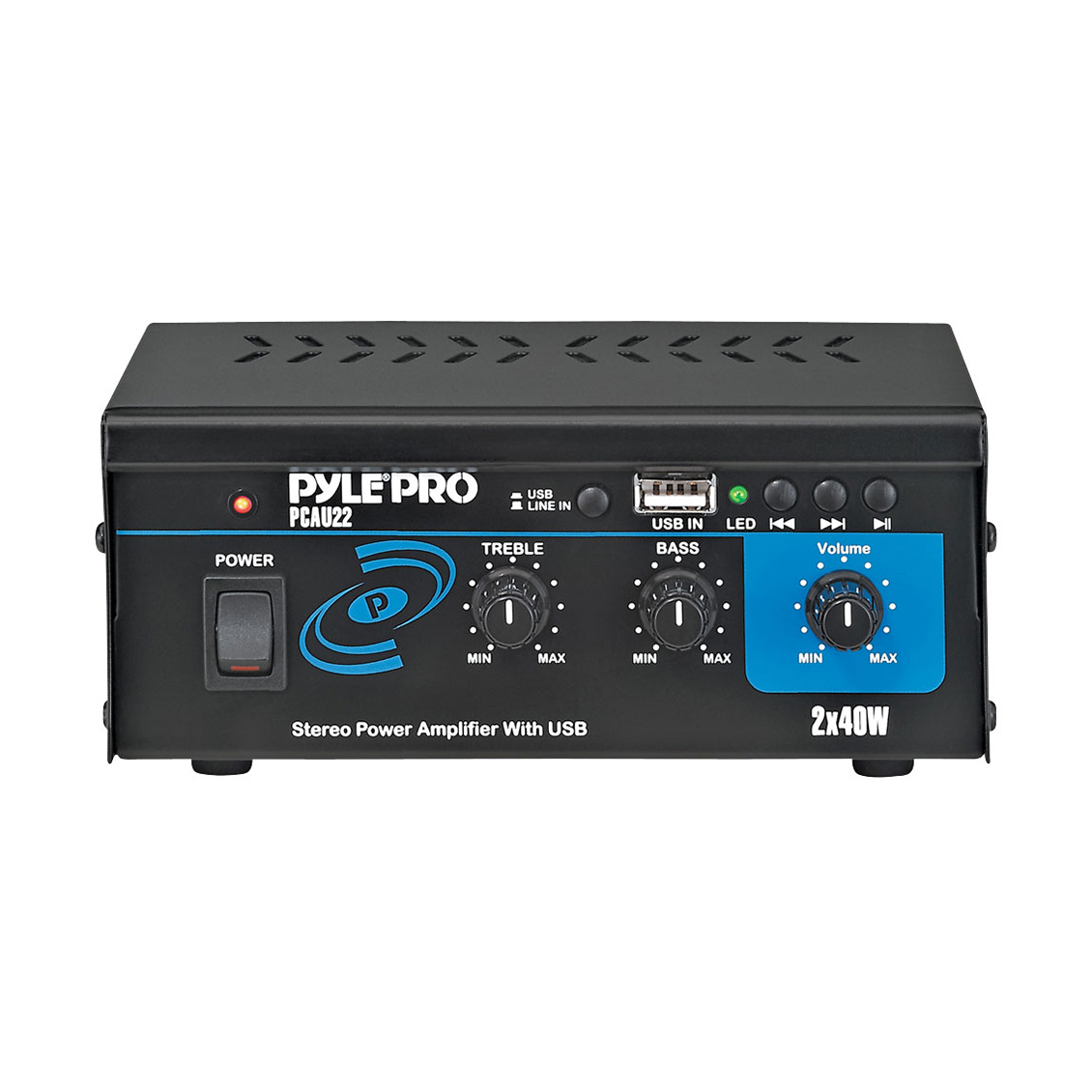 Pyle PCAU22 Amplifier - 40 W RMS - 2 Channel - 10% THD - USB