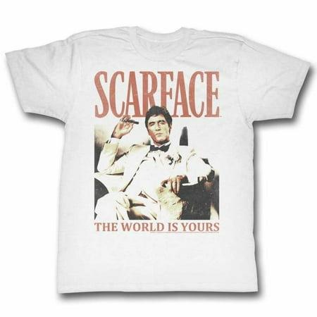 Scarface Movies Da World Adult Short Sleeve T Shirt