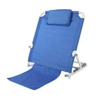 LAFGUR Portable Folding Adjustable Stainless Steel Disability Backrest Bed Support Beach Travel Lounge,Backrest, Beach Lounge