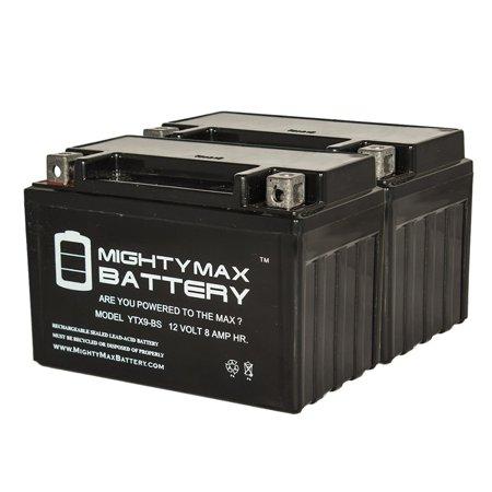 YTX9-BS 12V 8AH Replaces 12V SLA AGM Power Sports Battery - 2 Pack