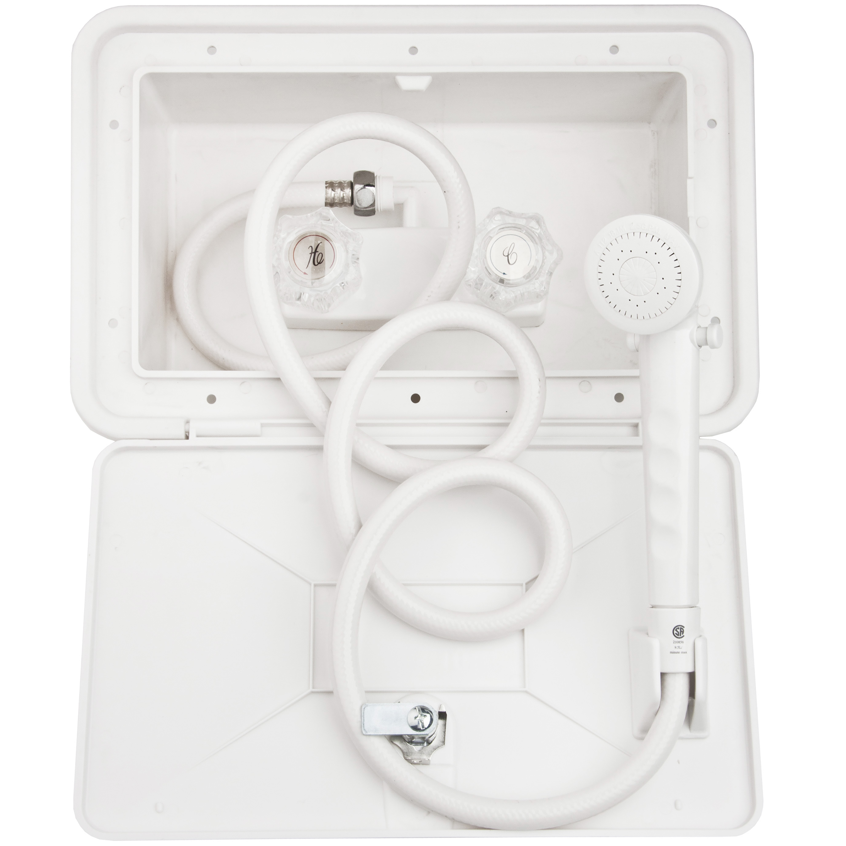 Dura Faucet RV Exterior Shower Box Kit - Black