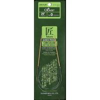 "Clover Bamboo Circular Knitting Needle 29"" 0"