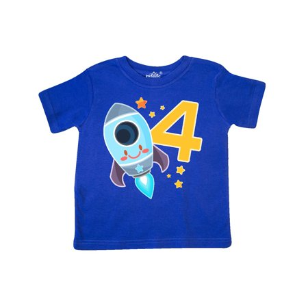 Rocket Space ship Happy Fourth Birthday Toddler (Happy Birthday On The 4th Of July)