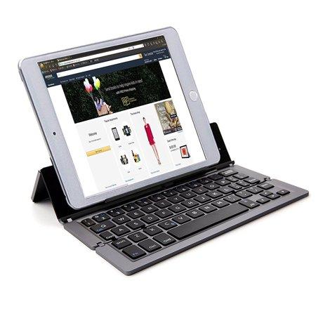 Universal Portable Bluetooth 3.0 Wireless Keyboard Kickstand Holder for iPhone 6S/6S Plus/7/ 7Plus/8/X ,iPad Pro 9.7/iPad Air 2/Air/Mini,Samsung