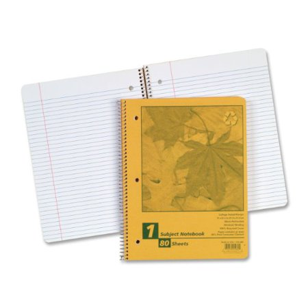Ampad Recycled Envirotech Natural - Ampad Recycled Wirebound Notebook - 80 Sheet - College Ruled - Letter 8.50