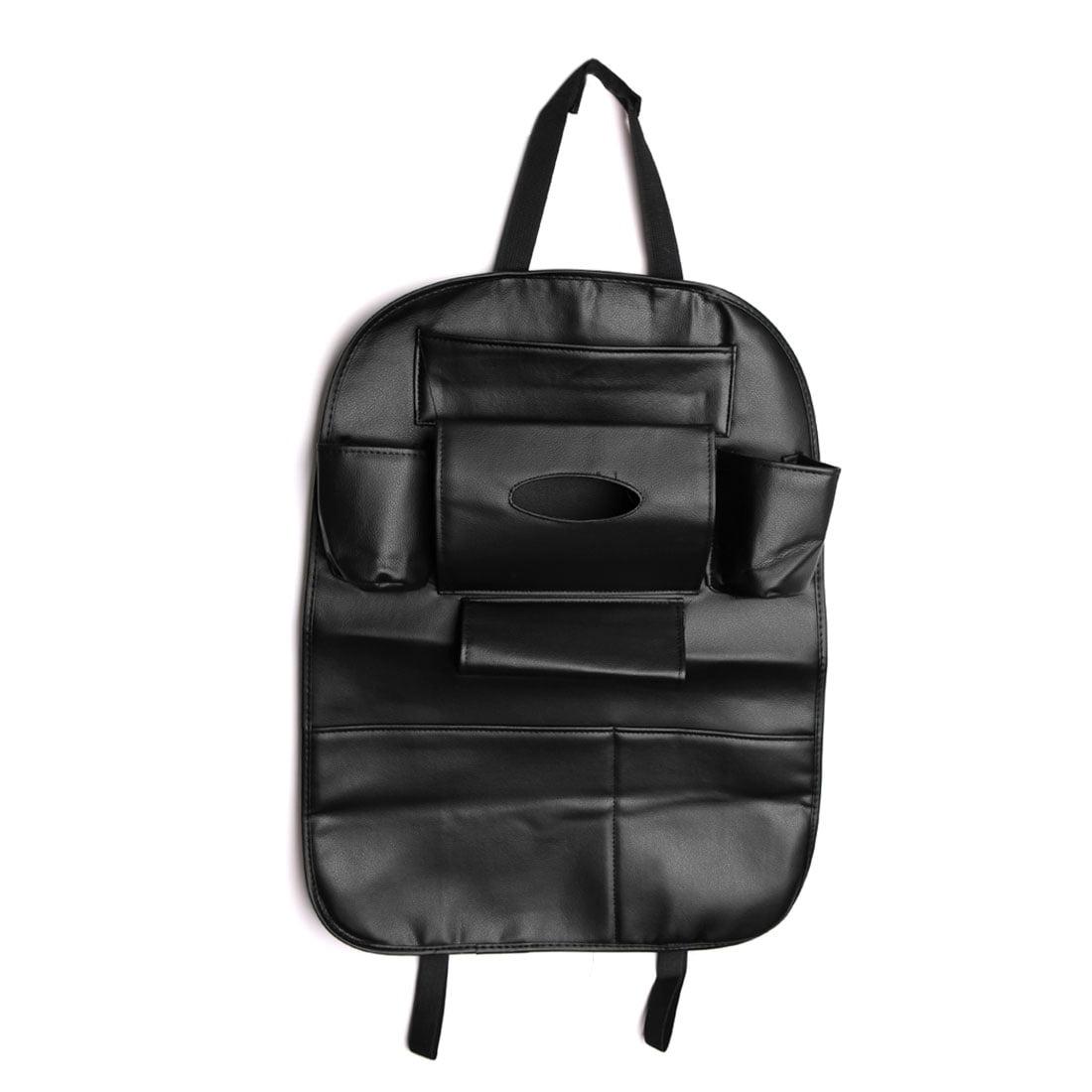 Black Auto Car Seat Back Cover Pouch Organizer Holder Multi-Pockets Storage Bag