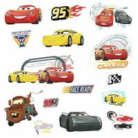 Disney CARS 3 MOVIE WALL DECALS Lightning McQueen Mater Cruz Stickers Room Decor