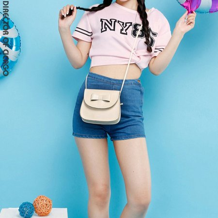 795601b5e9 Fashion Bow Knot Decoration Pu Leather Single Strap Shoulder Bag Crossbody  Bag