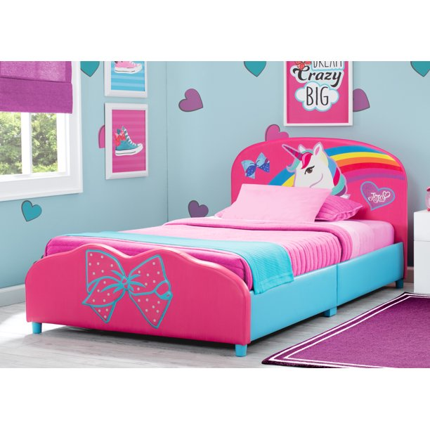JoJo Siwa Upholstered Twin Bed by Delta Children