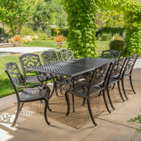 Abigal Cast Aluminum 9 Piece Outdoor Dining Set