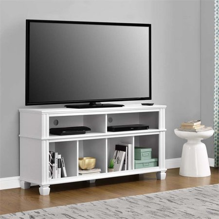 Awe Inspiring Ameriwood Home Woodcrest Tv Stand For Tvs Up To 55 White Evergreenethics Interior Chair Design Evergreenethicsorg