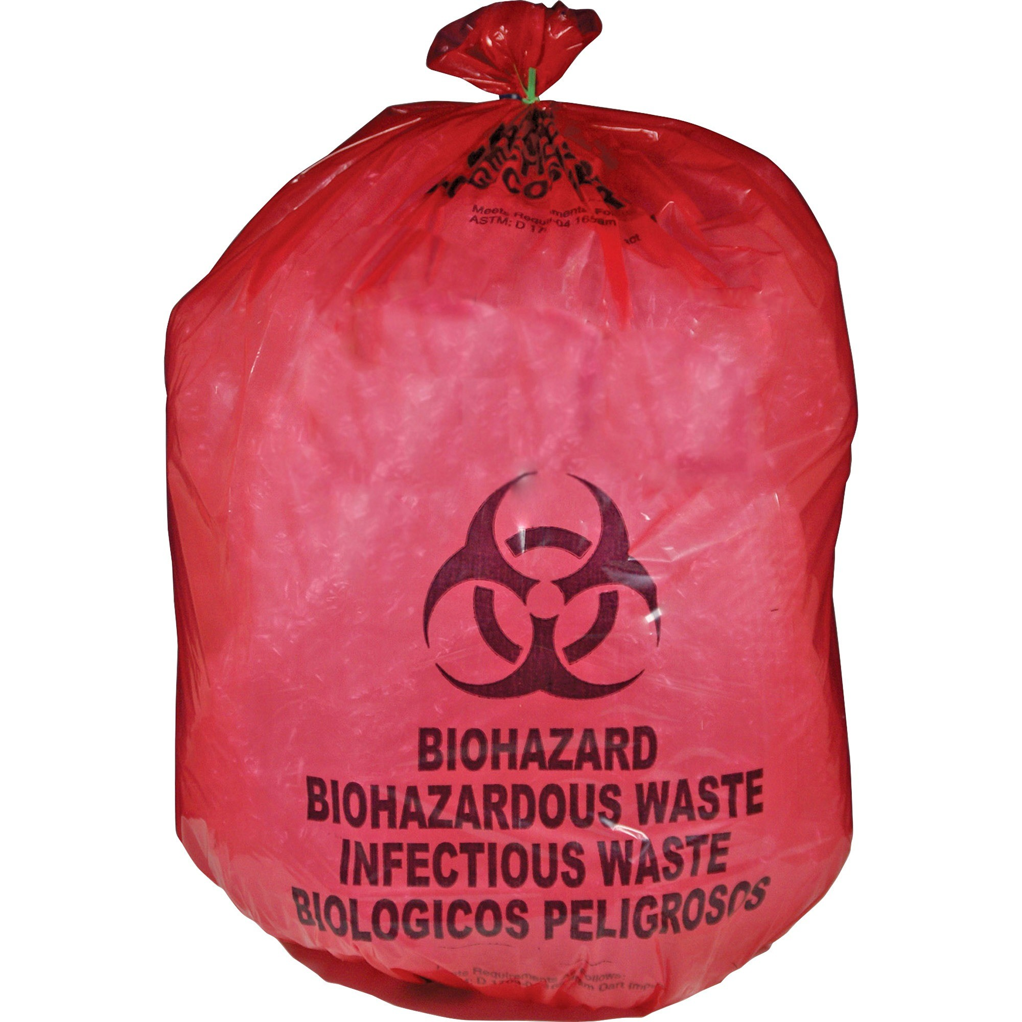 Medegen Red Biohazard Waste Bag - 25 Gal - 31