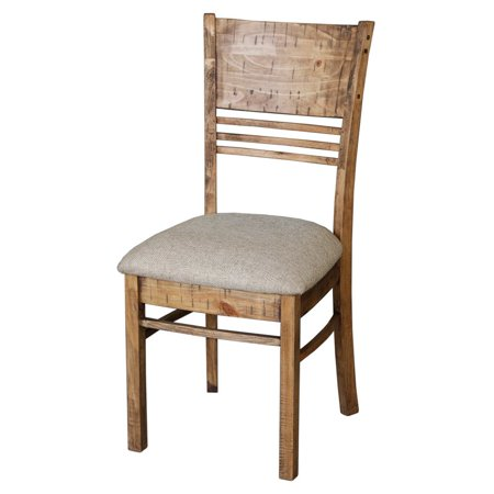 Cdi International Country Cushioned Dining Chair   Weathered Pine   Set Of 2