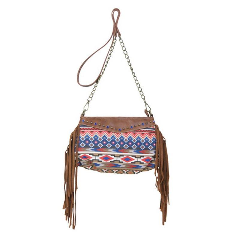 Way West Western Handbag Womens Crossbody Parks Aztec Brown 1684500