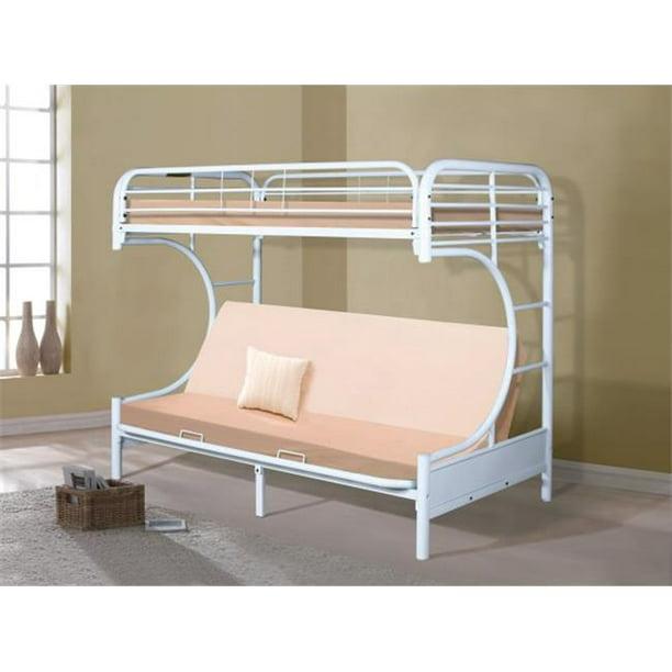 Pivot Direct Pd 4509 3wh Donco Kids C Shape Futon Bunk Bed 44 Gloss White Walmart Com