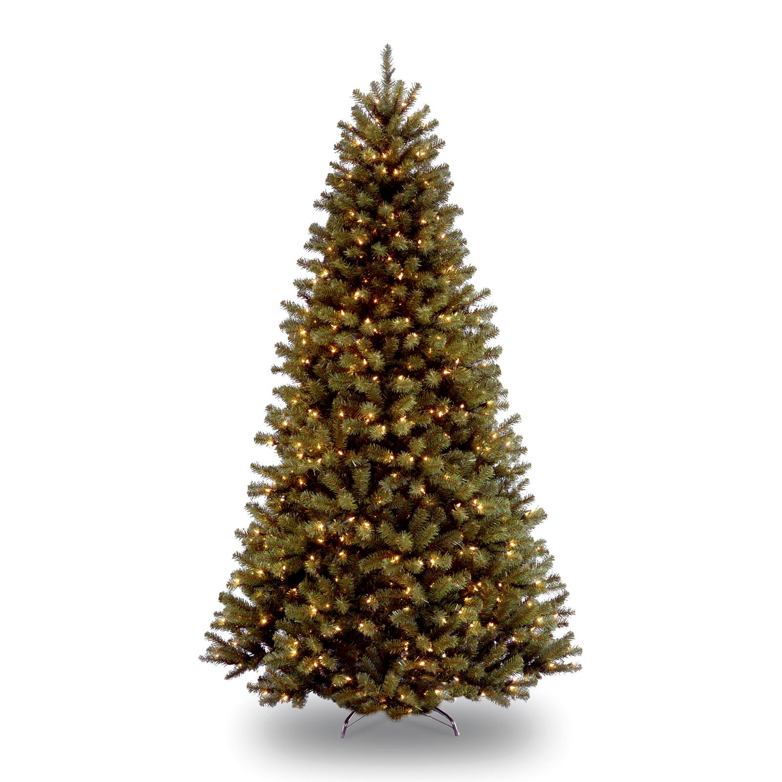 4 artificial christmas tree national tree prelit 412 north valley spruce hinged artificial