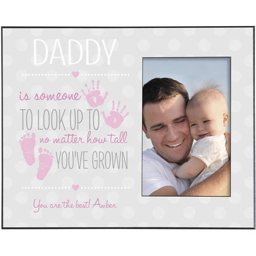 Personalized Someone To Look Up To Frame, Available in Blue or Pink
