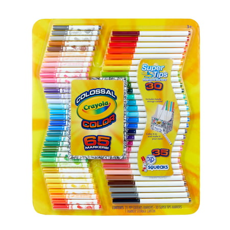 Crayola Colossal Marker Kit, 65 Pieces, Ages 3+