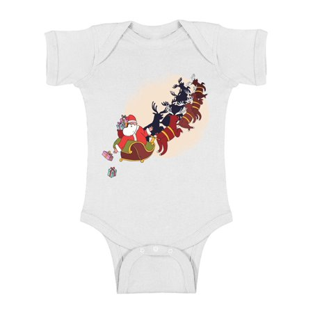 Awkward Styles Ugly Christmas Baby Outfit Bodysuit Xmas Gifts Santa Romper