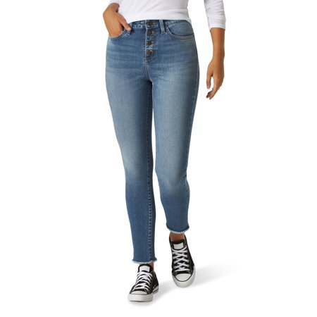 Lee Women's Heritage High Rise Button Fly Skinny Ankle Jean