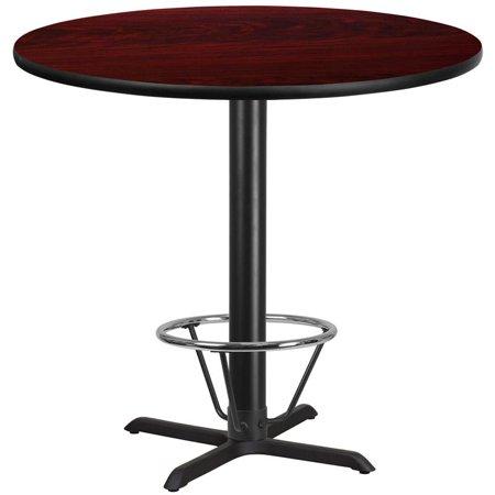 "Flash Furniture 42"" Round Laminate Top Pub Table in Walnut - image 1 de 4"