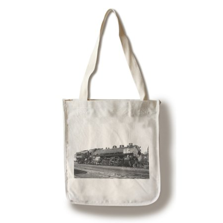 Union Pacific Train at Depot (100% Cotton Tote Bag - Reusable)