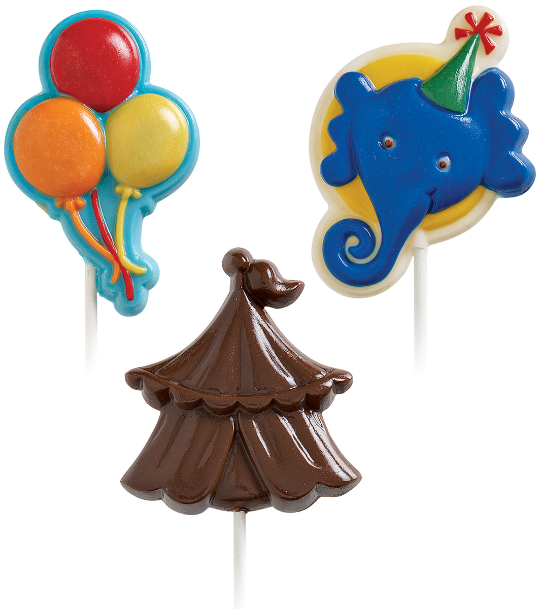 Lollipop Mold-Big Top 3 Cavity (3 Designs)